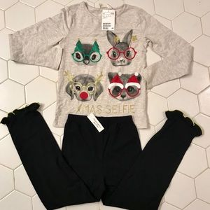 NWT H&M shirt and leggings size 6